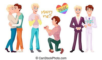 Gay couple set characters