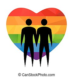 gay couple with heart