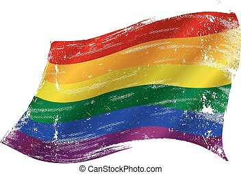 gay flag grunge