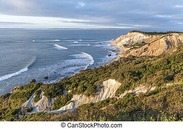 Gay Head cliffs of clay at the westernmost point of Martha's Vineyard in Aquinnah