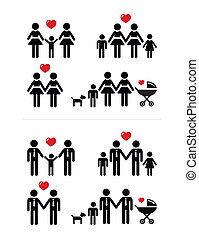 Gay, lesbian couples and family wit - Gay marriage, gay...