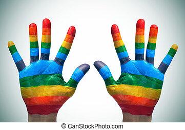 gay, mains