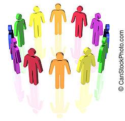 gay man circle - gay flag colored man signs in circle