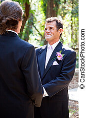 Gay Marriage - Handsome Latino Groom - Handsome hispanic...