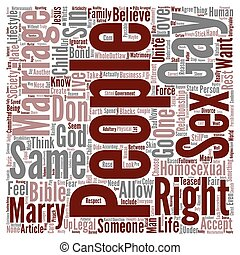 Gay Marriage Rights text background word cloud concept
