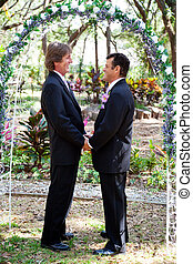 Gay Marriage - Under the Floral Arch