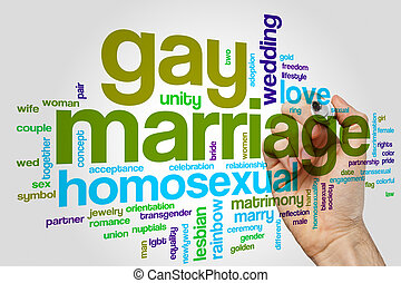Gay marriage word cloud concept