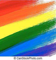 Gay or LGBT flag grunge background