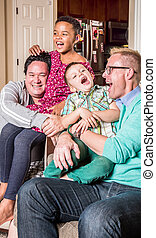 Gay Parents Tickling Their Children - Gay parents in the ...