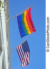 Gay Pride and American Flag