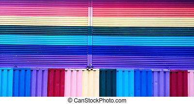 Gay pride background of rainbow colors painted on full frame