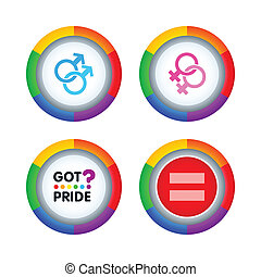 Gay pride badges - Colorful badges for gay pride events...