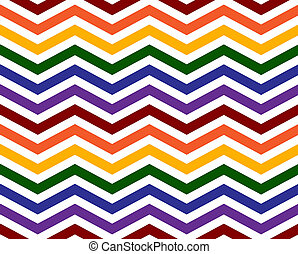 Gay Pride Colors in a Zigzag Pattern Background that is...