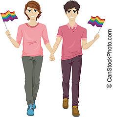 Gay Pride Couple