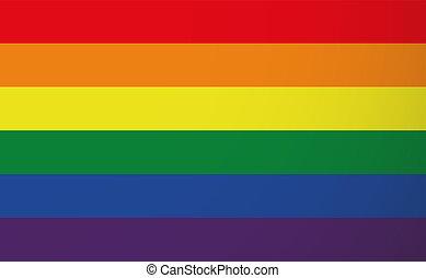 Illustration of a gay pride flag