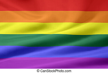 Gay Pride Flag - Very large flag of gay pride