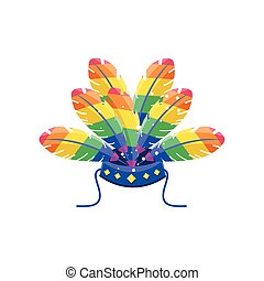 gay pride flower hat on white background