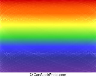 Gay Pride - rainbow background with swirls