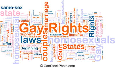Gay rights word cloud - Word cloud concept illustration of...