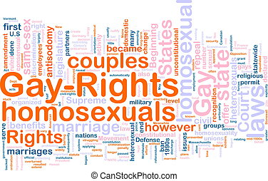 Gay rights word cloud - Word cloud concept illustration of ...