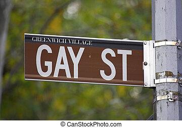 Gay street sign