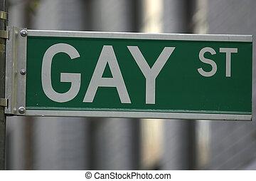 Gay street sign, greenwich village, lower manhattan, New...