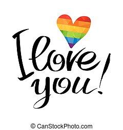 gay, symbole, amour