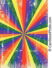 Gay vintage sunbeams background