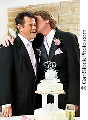 Gay Wedding - Affectionate Moment