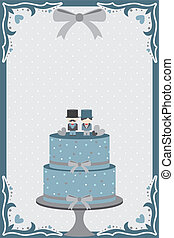 Gay wedding cake - A vector illustration of a wedding cake...