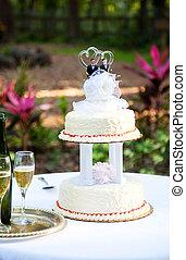 Gay Wedding Cake in Garden