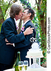Gay Wedding - Romantic Kiss
