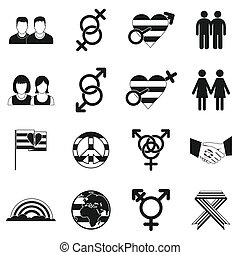 Gays simple icons set
