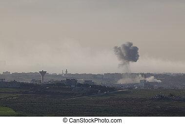 Gaza strip - Israeli�Palestinian conflict. Israeli...