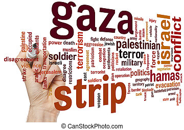 Gaza strip word cloud - Gaza strip concept word cloud...