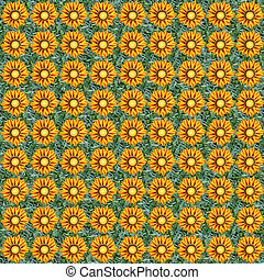 Gazania seamless composable pattern