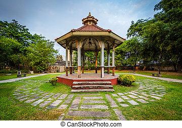 gazebo, ∥において∥, 城砦, サンティアゴ, 中に, intramuros, マニラ, ∥, フィリピン。