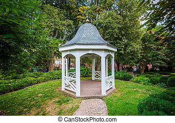 Gazebo behind the Carlyle House, in the Old Town of...