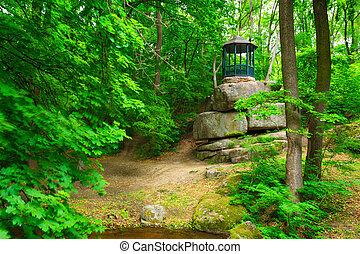 Gazebo in the forest