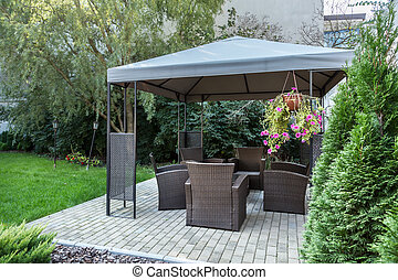 Gazebo in the garden
