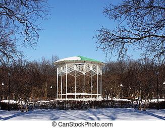 Gazebo in winter park