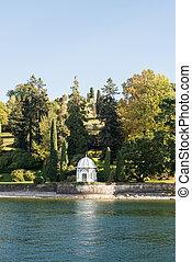 Gazebo on Como Lake, Italy.