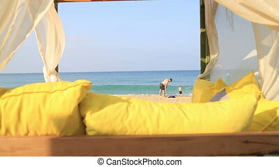 Gazebo on the beach