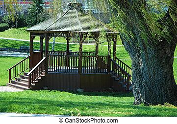 gazebo, park