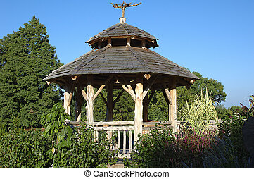 Gazebo - Photo of Log Built Gazebo.
