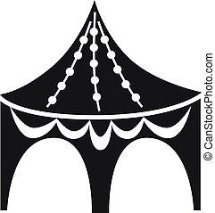 Gazebo tent icon, simple style