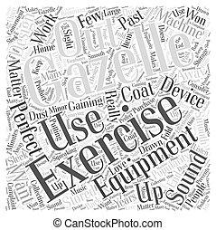 gazelle exercise equipment Word Cloud Concept