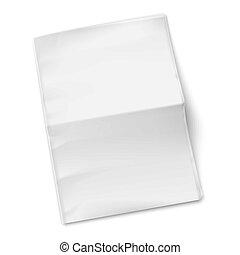 gazeta, tło., biały, szablon, czysty