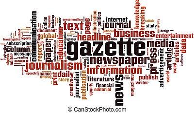 Gazette word cloud concept