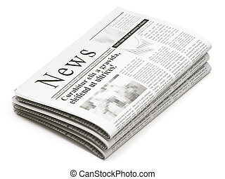 gazety, stóg